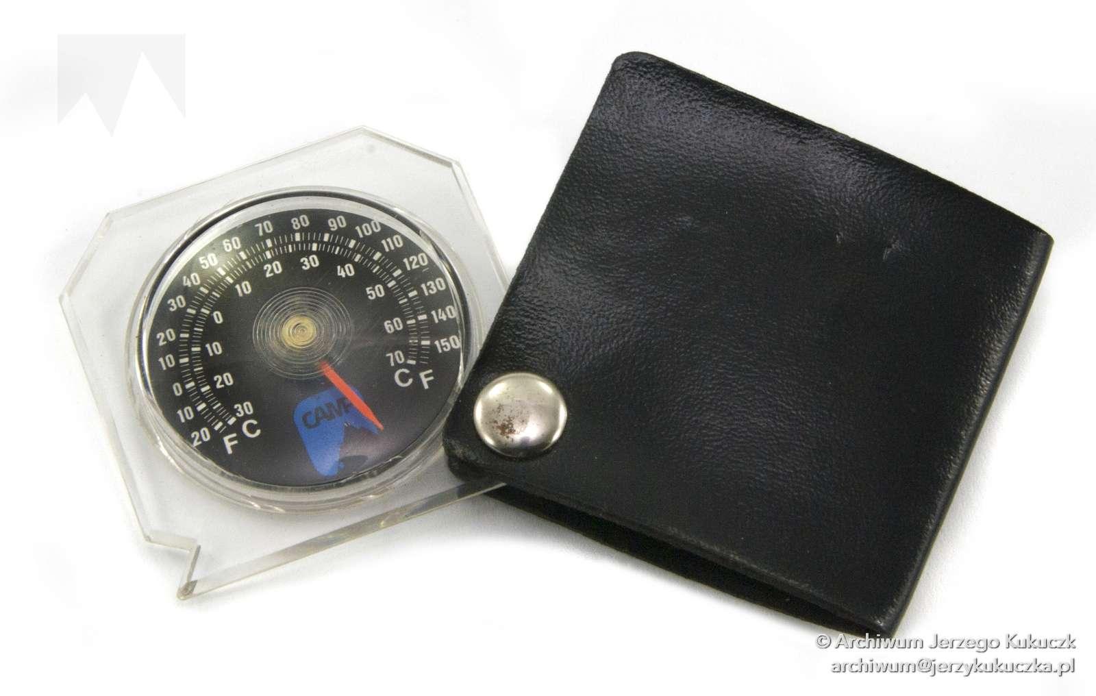 Termometr kieszonkowy używany na wyprawach wysokogórskich przez Jerzego Kukuczkę