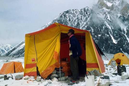 Wojtek Kurtyka at the Broad Peak base camp