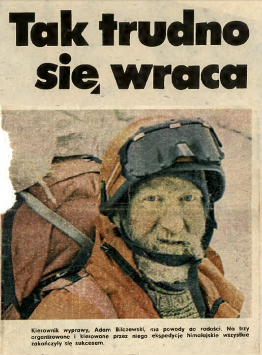 Fragment reportażu autorstwa Mirosława Kurasia zamieszczonego w