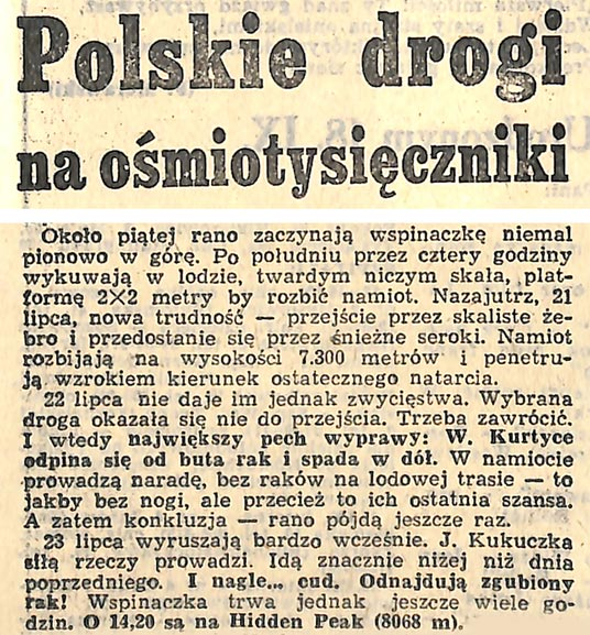 Excerpt from Zbigniew P. Szandar's article from Dziennik Zachodni of 17-18 September. 1983