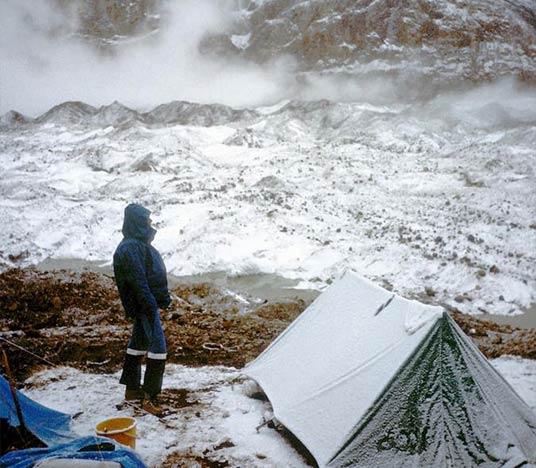 Biwak w Urdukas podczas wyprawy na Gasherbrumy, 1983 rok