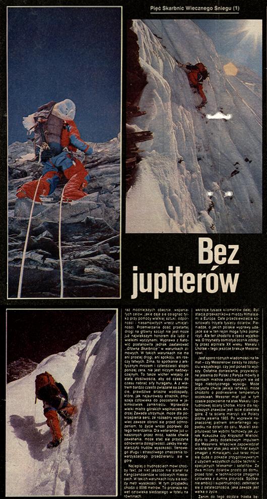 Pierwsza część artykułu Macieja Biegi o wyprawie na Kangchenjungę .